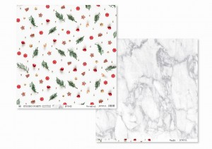 JOYFUL - Decorations/marble-  scrapbook paper