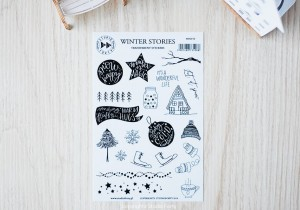 WINTER STORIES - transparent stickers (english)