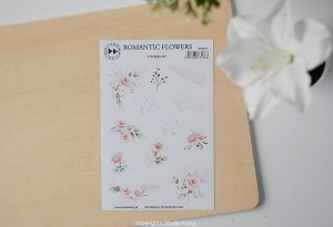 Romantic Flowers - sticker set