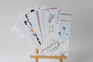 NORDICA -Notebook edition-set of 12 papers 10x21 cm